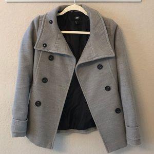 H&M gray pea coat
